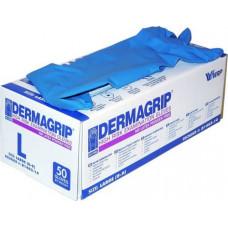 Перчатки латекс синие DERMAGRIP (L) (25/250) НДС 10 %
