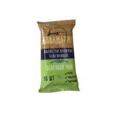 Салфетки влажные Аквамарин 15 шт. Зеленый чай (120)