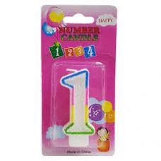 """Свечи для торта """"Цифра 1"""" 1/12"""