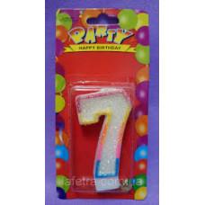 """Свечи для торта """"Цифра 7"""" 1/12"""