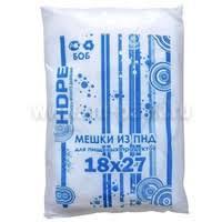 Мешок фасовочный 18*27/10 мкм /40 Э ББ