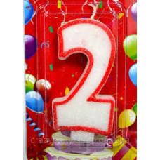"""Свечи для торта """"Цифра 2"""" 1/12"""