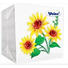 Салфетки Veiro Желтый цветок 100л/45